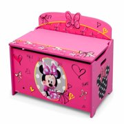 Disney Minnie Mouse Deluxe Wood Toy Box by Delta Children