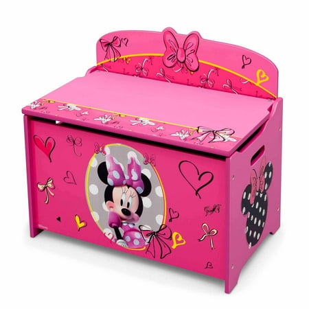 Delta Wood Machines - Disney Minnie Mouse Deluxe Wood Toy Box by Delta Children