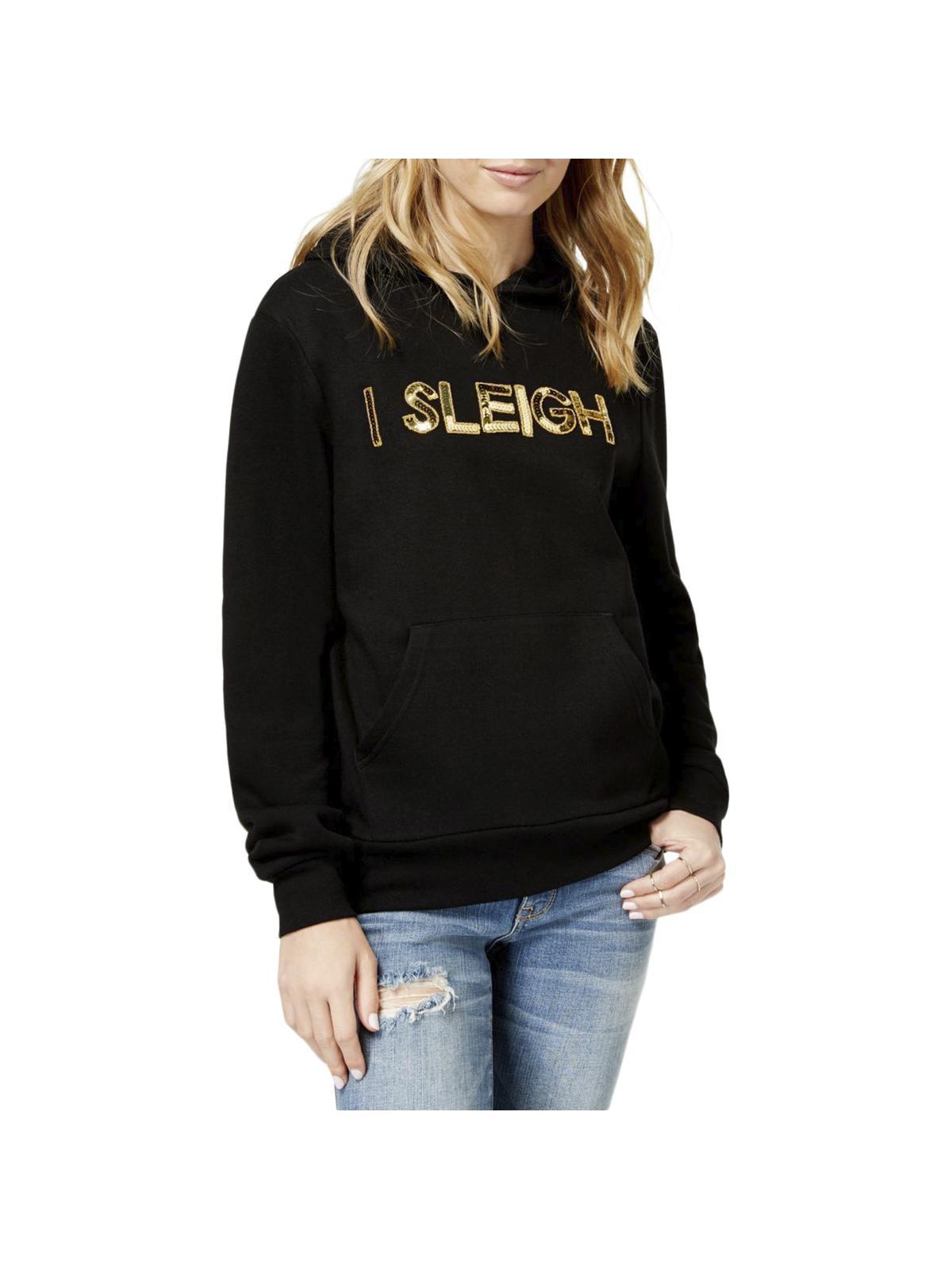 Bow & Drape Womens Juniors I Sleigh Winter Holiday Sweatshirt