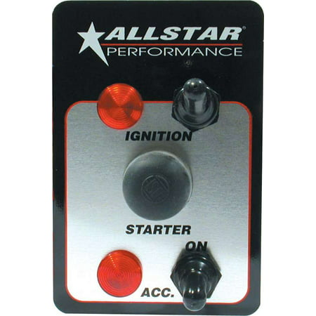 Allstar Performance ALL80146 Standard Ignition Two Switch Panel with Pilot Lights