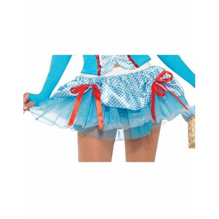 Farm Girl Womens Adult Dorothy Wizard Of Oz Costume Accessory Tutu Skirt