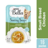 Purina Bella Grain Free Small Breed Wet Dog Food Complement, Savory Soups With Chicken - (16) 1.4 oz. Pouches
