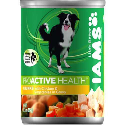Iams Proactive Health Adult Chicken, Spring Vegetables And Rice Flavor Chunks In Gravy Wet Dog Food 13.0 Ounces