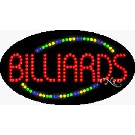 Ball Billiards Neon Sign - Billiards Flashing & Animated LED Sign (High Impact, Energy Efficient)