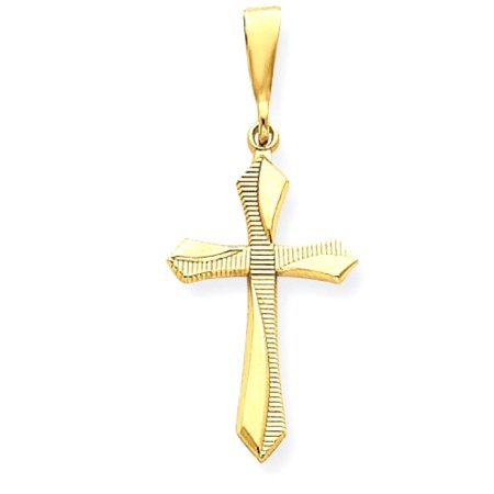 14k Passion Cross Pendant (14k Yellow Gold Passion Cross Religious Pendant Charm Necklace Gifts For Women For)