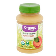 (3 Pack) Great Value Organic Applesauce, Unsweetened, 23 oz