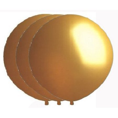36 Inch Giant Round Gold Latex Balloons by TUFTEX (Premium Helium Quality) - Halloween Helium Balloons Delivered