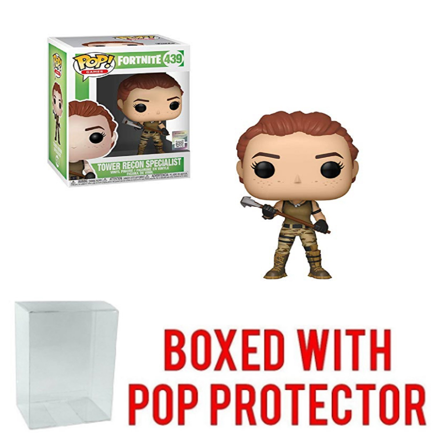 Funko POP - Fortnite - Tower Recon Specialist - with Pop Protector