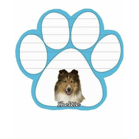 Sheltie Dog Paw Magnetic Note Pad