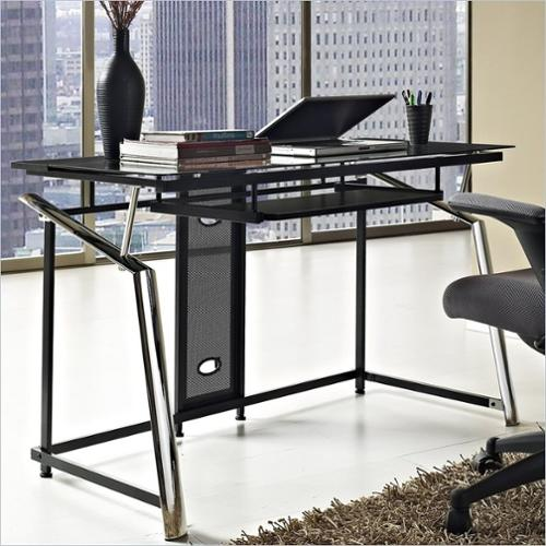 Altra Furniture Computer Desk - Chrome and Black