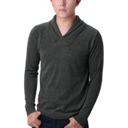 Men's Long Sleeve Embellish V Neck Rib Trim Pullover Knitwear (Size S / 36)