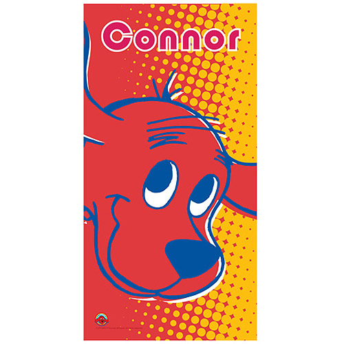 Personalized Clifford Pop Art Beach Towel