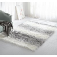 Product Image Mainstays Ombre Faux Fur Rug Multiple Colors And Sizes