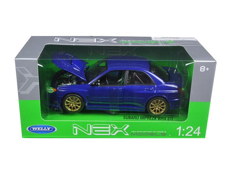 Subaru Impreza WRX STI Blue 1 24 Diecast Model Car by Welly by Welly