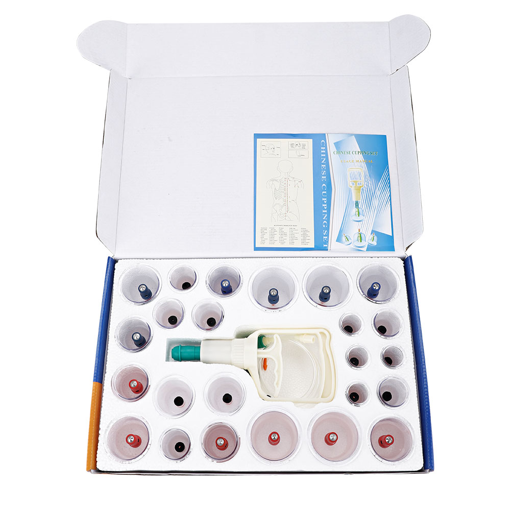 Yosoo 24pcs Cups Chinese Vacuum Cupping Set Massage Therapy Suction Acupuncture, Massage Cupping Set,Cupping Set