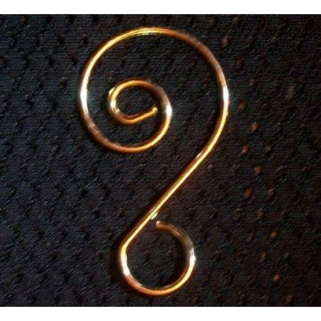 Fancy Gold Ornament Hooks, Gold Ornament Hanger for Collectibles, Pack of 18 - Decorative Ornament Hooks