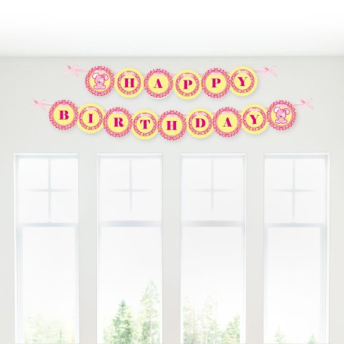 Girl Puppy Dog - Birthday Party Garland Banners