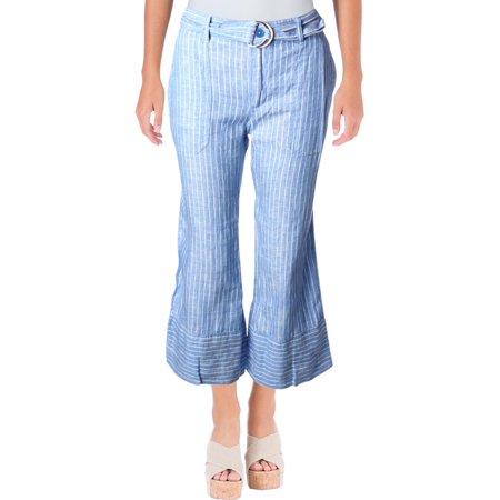 Lauren Ralph Lauren Womens Linen Weekend Wide Leg Pants