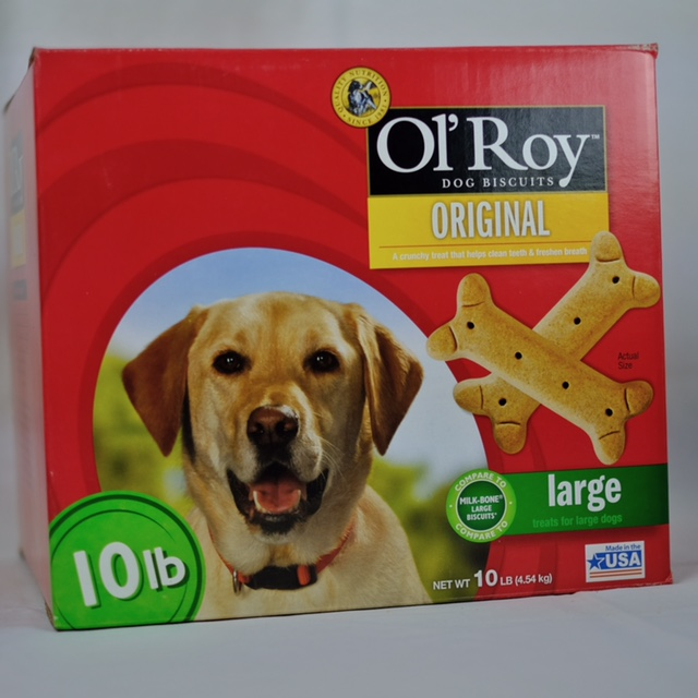 OL' ROY MILK FLAVORED DOG BISCUITS, 10LB