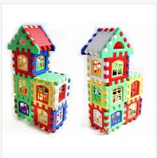 24Pcs Baby Kid Children House Building Blocks Enlighten Construction Developmental Toy Baby Block Set by