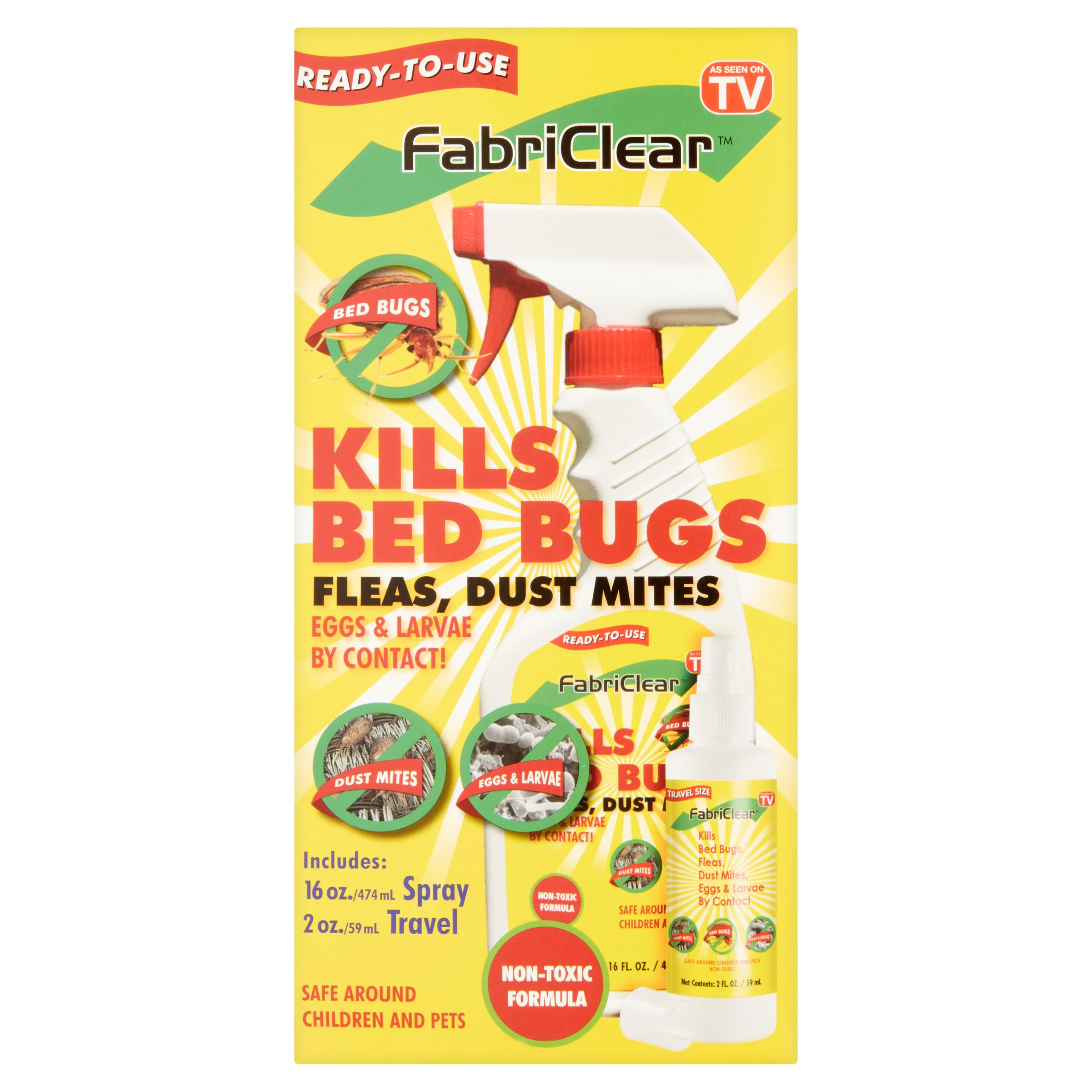 as seen on tv fabriclear for bed bugs - walmart