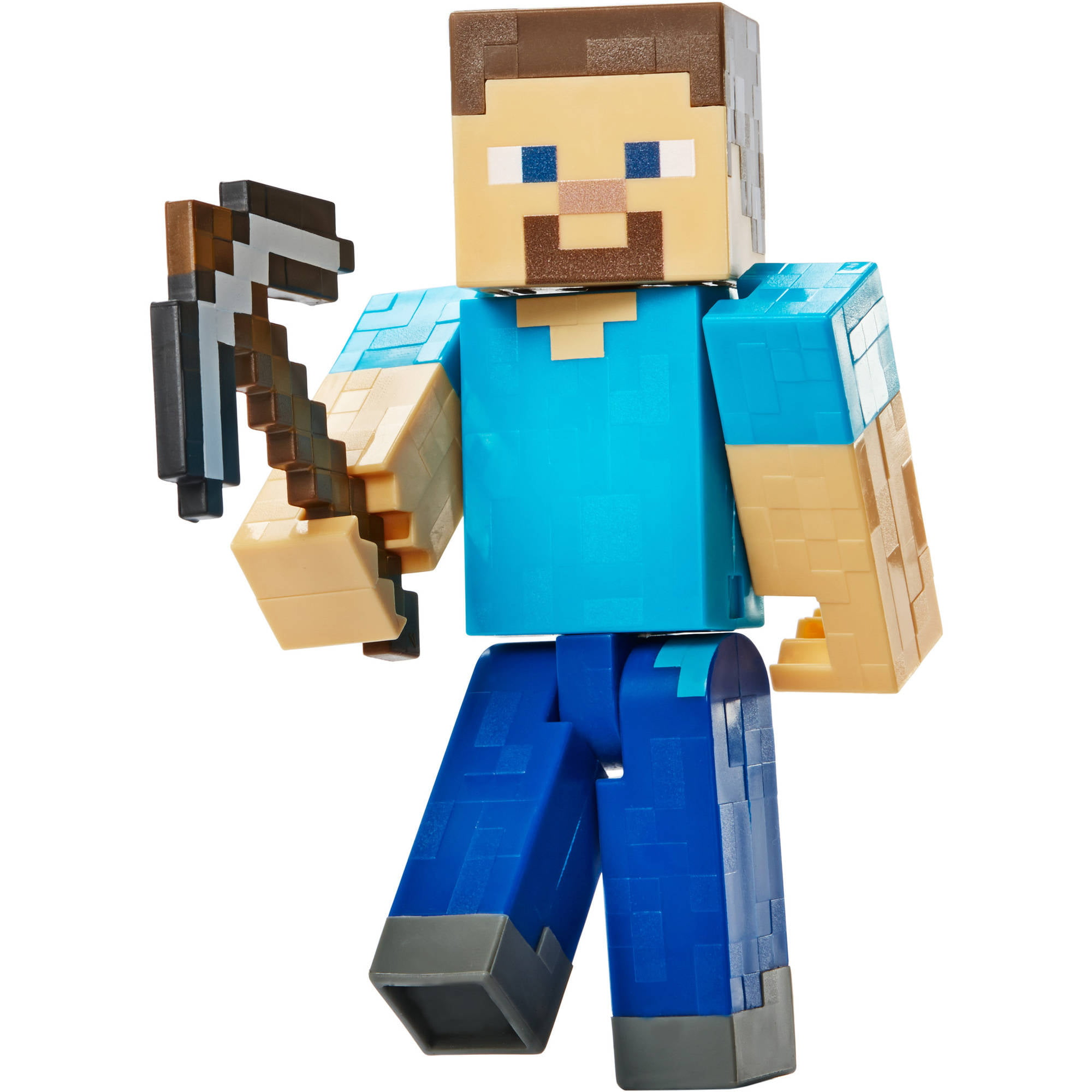 Minecraft Basic Action Figures Series 1 Steve with Pickaxe by Mattel
