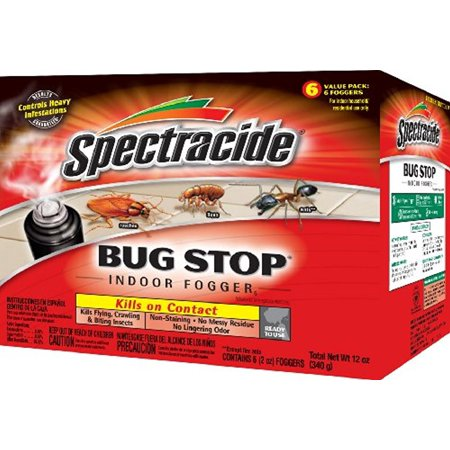 4 Packs of 6 Count Spectracide Bug Stop Indoor Insect Spray Foggers, 2-Oz