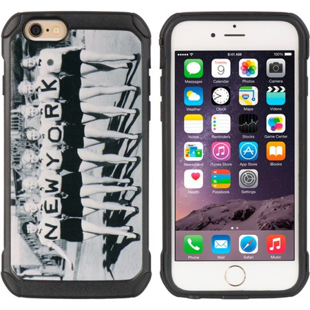 Insten Cityscape Series Black TPU + PC Hybrid Protective Case Uptown Girl Nyc For Apple iPhone 6s Plus / 6 Plus - Seasonal Jobs Nyc