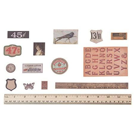 Tim Holtz Idea-ology Thrift Shop Ephemera Pack, 54 Pieces, TH93114 - image 2 de 3