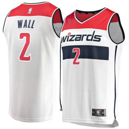new concept bf710 0daa1 John Wall Washington Wizards Fanatics Branded Fast Break Jersey -  Association Edition - White