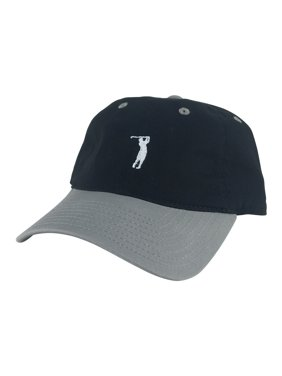 b68a63f43fe Product Image CapRobot Golfer Swing Unstructured Cotton Strapback Dad Cap  Hat - Black Grey