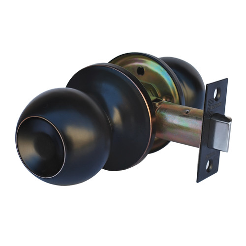 Constructor Chronos Passage Door Knob Handle Lock Set for Hallway Oil Rubbed Finish
