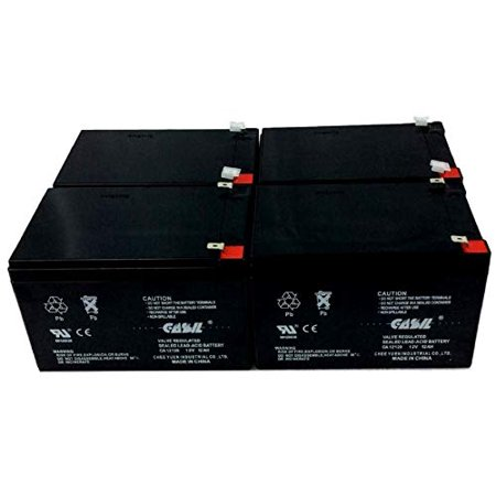 4 Pack CASIL 12v 12ah F2for Bladez XTR Comp 2 500w Scooter (Requires 3) Peg Perego DJW12-12 DMU12-12 Go-Chair Ultra SC40U SC44U Interstate Batteries BSL1105 Invacare Zoom 300