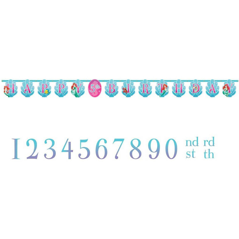 Disney The Little Mermaid Sparkle Birthday Banner