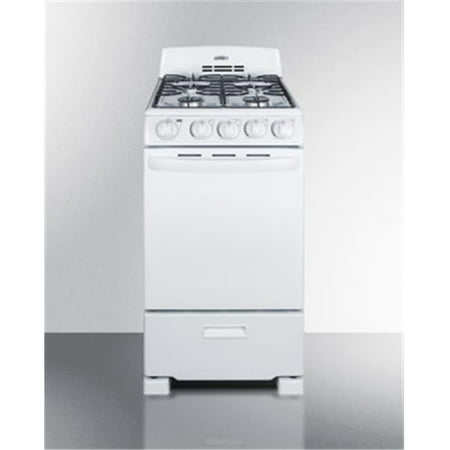 Summit RG200WS 20 Inch Wide 2.3 Cu. Ft. Free Standing Gas Range with Broiler