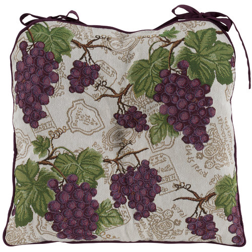 Better Homes&gardens Bhg Grapes Tapestry Chairpad