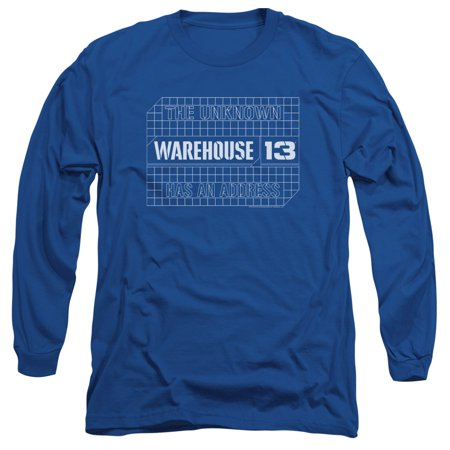Warehouse 13 Blueprint Logo Mens Long Sleeve Shirt