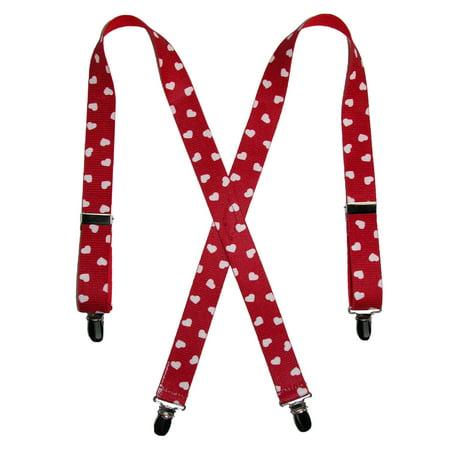 CTM Kids' Elastic Clip-End 1 Inch Heart Suspenders - image 3 de 3