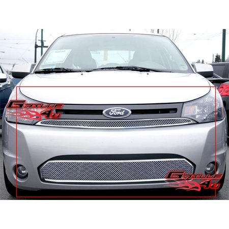 Compatible with 08-11 2011 Ford Focus Coupe Stainless Mesh Grille Combo F77700T