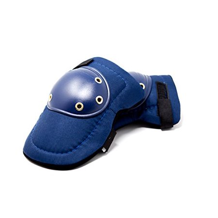 Elastic Foam Strap - SAFE HANDLER Knee Pads - Tough Cap | Thick Foam Padding, Adjustable Elastic Straps, 2 Pairs (BLUE)