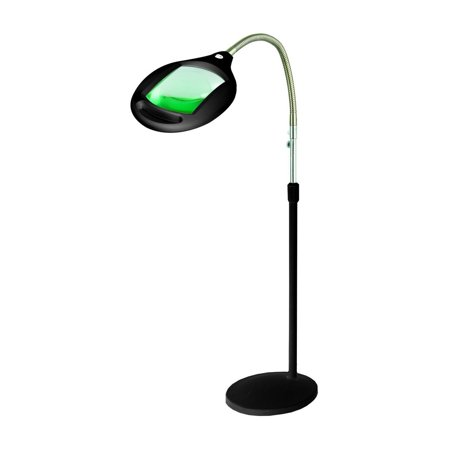 Lightview Pro Superbright Magnifier Floor Lamp With 42 Led S Extra Large Lens Amp Adjustable