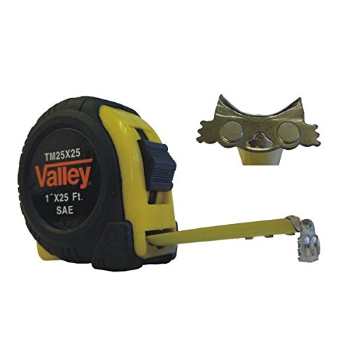 12 ft. x 5/8 in. Tape Measure with Magnetic Tip, SAE/MM, TM12X16C - Sold by Only, Anti-Shock mechanism By ucostore