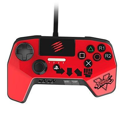 New Improved D-pad - Mad Catz Street Fighter v Fightpad Pro for PS4 and PS3 - Red - Playstation 4