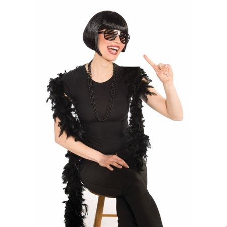 Black Bob Wig Halloween Costume Accessory (Black And White Movie Characters Halloween)