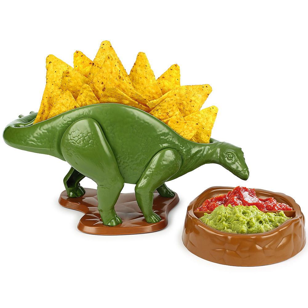 Nachosaurus Snack Holder w/ Dip Bowl - Fun Prehistoric Meal-Time - ABS Free