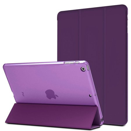 MIIU by Digiparts Ultra Thin Magnetic Smart Cover & Clear Back Case for Apple iPad Air(5th Gen) A1474 A1475 A1476, Purple - image 2 de 2