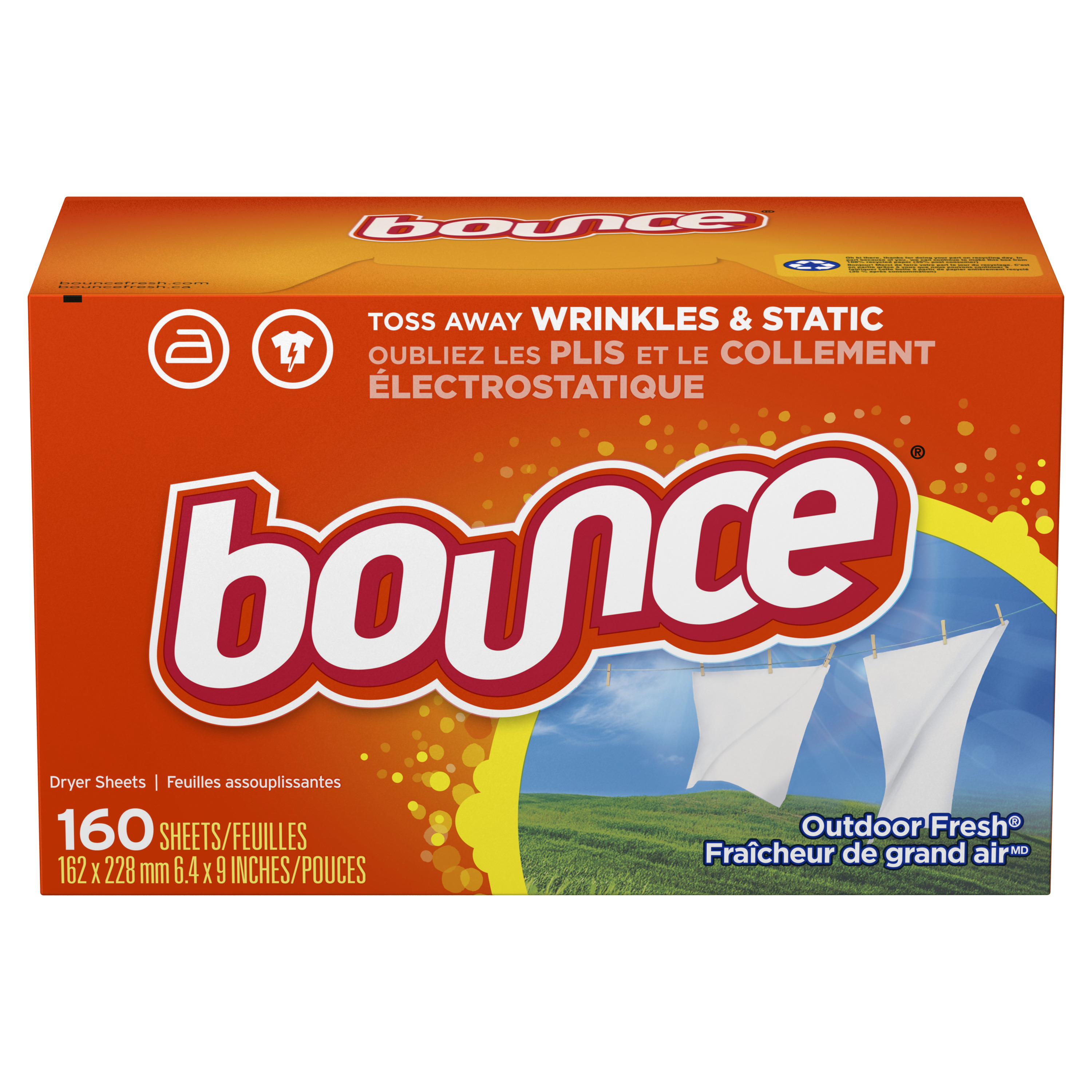 Bounce® Outdoor Fresh® Fabric Softener Sheets 160 ct Box