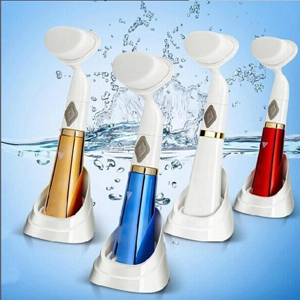 Tuscom Hot Electric Facial Brush Face Clean Skin Massage Deep Pore Scrubber Cleanser