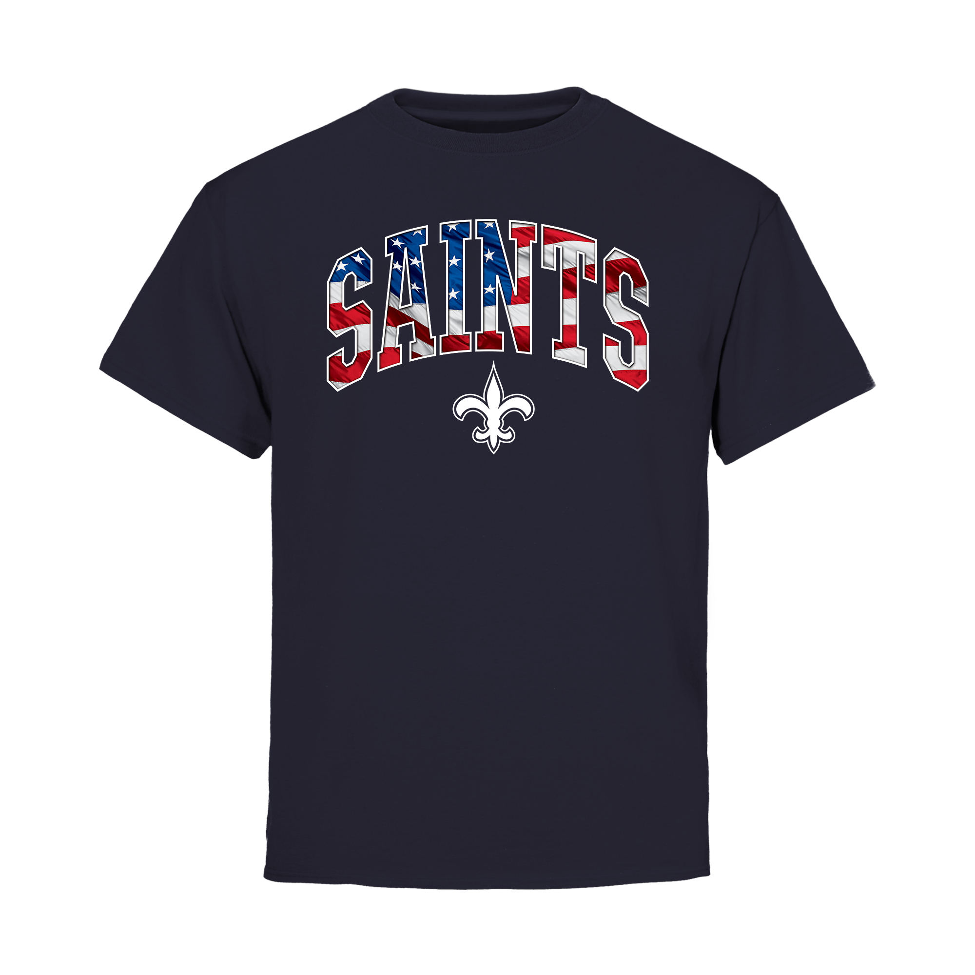 New Orleans Saints NFL Pro Line Youth BannerWave T-Shirt - Navy