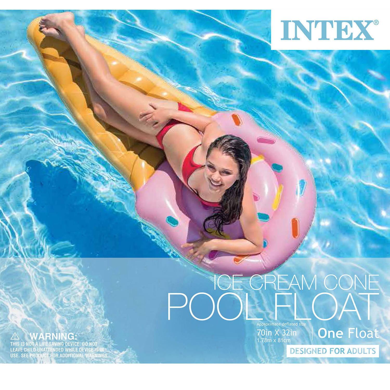 Intex Inflatable Ice Cream Cone Pool Float Walmart